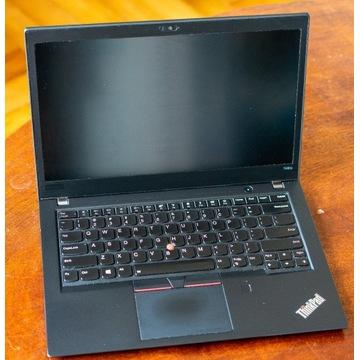 Lenovo T480s, i7-8550U 16 RAM 512 NVMe MX150 GW!
