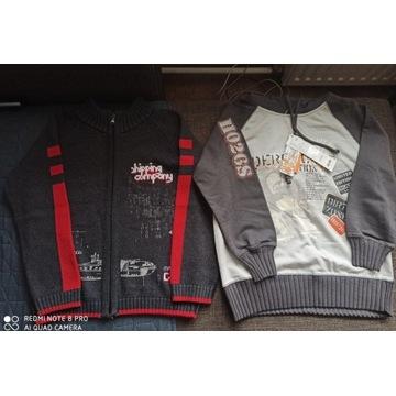 Nowa bluza z kapturem sweter na zamek r. 122 - 128