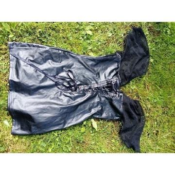 Noir handmade LaTeX sukienka roz 36