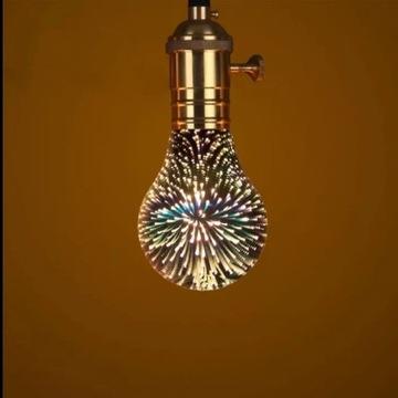 Ozdobna żarówka LED  E27 z wzorkami A60