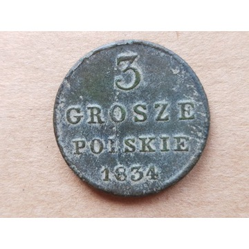 3 grosze polskie 1834