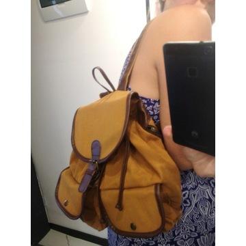 Plecak retro vintage brązowy skórzany miejski