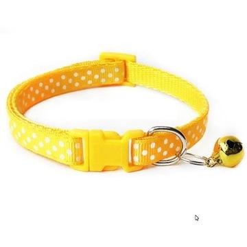 Obroża dla kota lub małego psa - 19-32 cm żółta