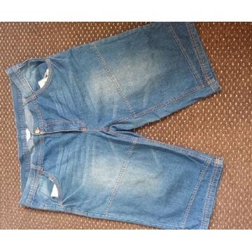 Spodnie męskie używane krótkie 3/4 jeans 38/xxxl
