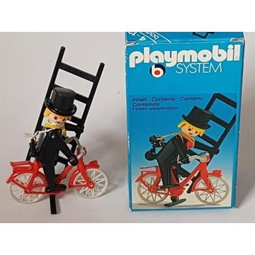 UNIKAT z lat 70-tych XX wieku Kominiarz na rowerze