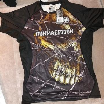 Koszulka sportowa runmageddon męska L nowa