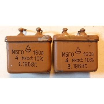 MBGO   PIO (paper in oil)   4uF 160V 2szt.
