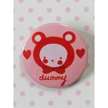 Przypinka Różowy miś -Dummy bear-