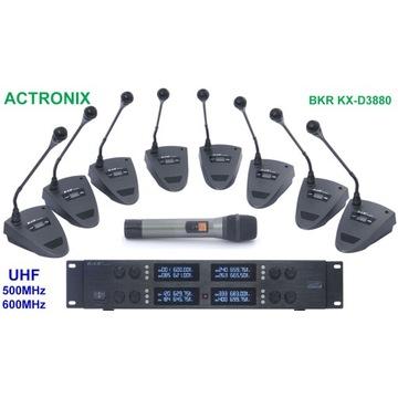 Konferencyjne mikrofony bezprzewodowe BKR KX-D3880