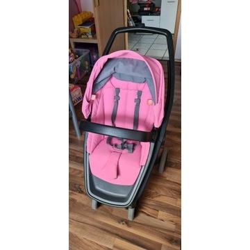 Greentom Reversible Pink, czarna rama + torba
