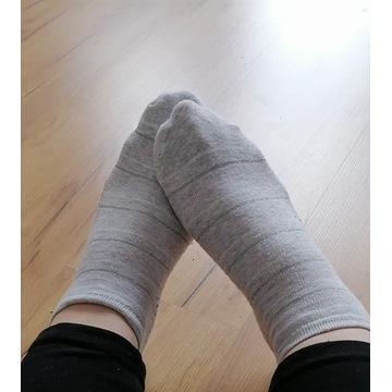 skarpetki bawełniane noszone używane fetysz stóp