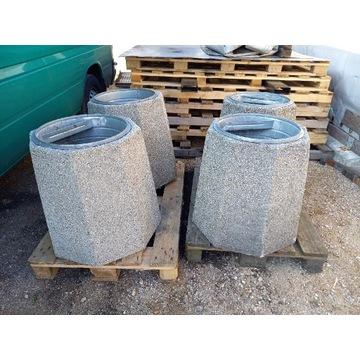 Kosz na śmieci uliczny betonowy donica betonowa