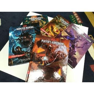 Zestaw podręczników do Dungeons and Dragons  5.0