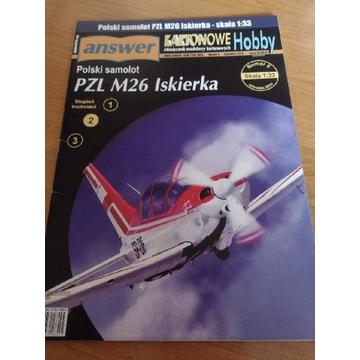 Model kartonowy Answer PZL M26 Iskierka