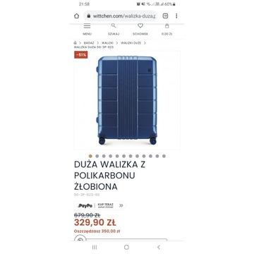 Nowa duża walizka podróżna wittchen z polikarbonu