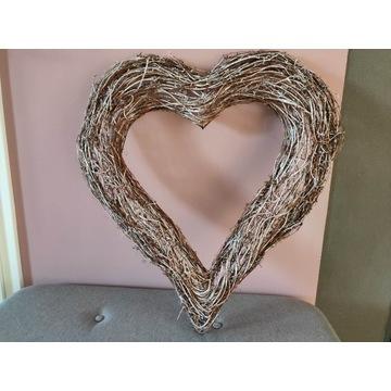 Serce wiklinowe (70 x 65 cm) - ozdoba