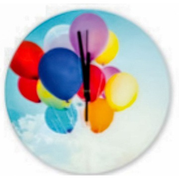 Zegar ścienny kolorowy dla dzieci dziecka prezent