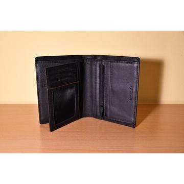 Ekskluzywny skórzany portfel męski Samsonite RFID!