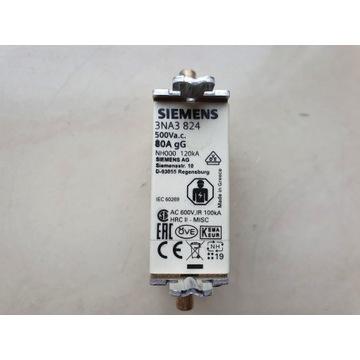 Bezpiecznik niskonapięciowy 80 A Siemens 3NA3 824