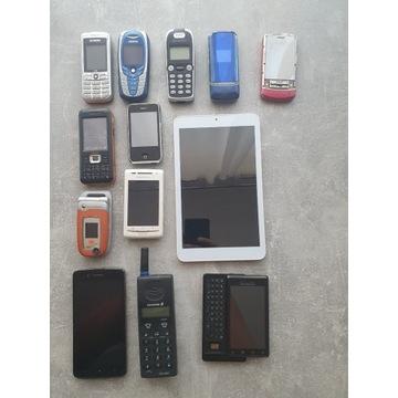 Zestaw telefonów Motorola, Ericsson, Alcatel itp