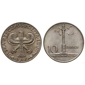 10 złotych 1965 Duża Kolumna st. 1 exWCN