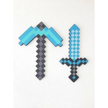 Miecz i Kilof zabawka Minecraft dla dzieci PL