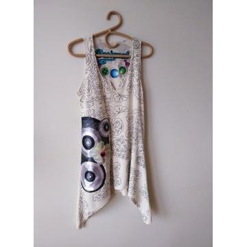 DESIGUAL tunika/sukienka ciepły beż rozmiar L