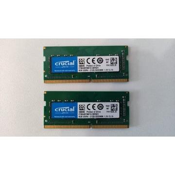 Pamięć ram 16GB DDR4 2133 2 kości po 8GB.