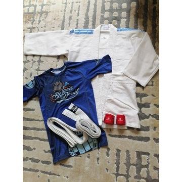BJJ JIU-JITSU kimono+pas+koszulka Pitbull 140-146