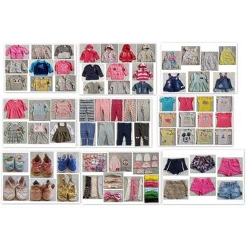Paka zestaw ubrań dla dziewczynki 56 62 68 160 szt