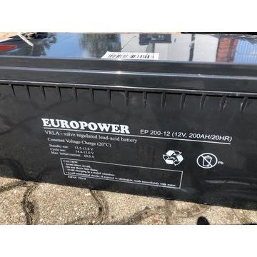 Akumulator AGM Europower EP200Ah-12V -Fotowoltaika