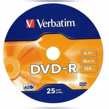 DVD-R Verbatim 4,7 GB (25 sztuk)