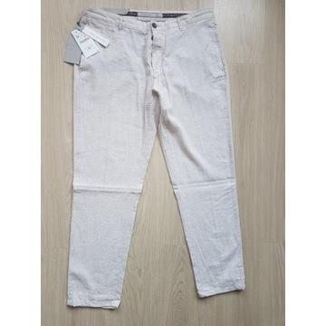 Spodnie bawełniano- lniane ,slim - Fit ZARA