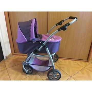 Wózek dla lalki 2 w 1, nosidełko