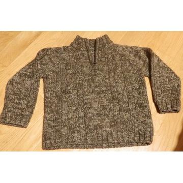 Gruby sweter dla chłopca 104cm 3-4lata Mothercare