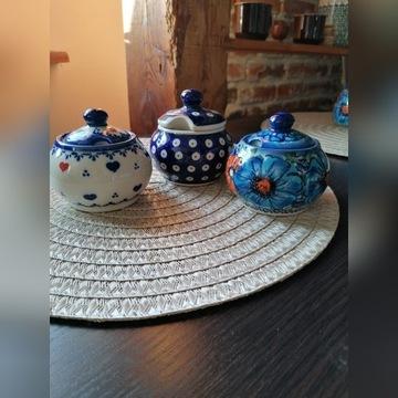 Ceramika Bolesławiec cukiernica