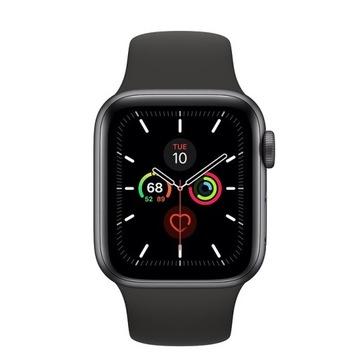 Nowy Apple Watch 5 | alu | 40 mm | pasek czarny