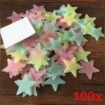 Gwiazdki świecące fluorescencyjne do pokoju 100 sz