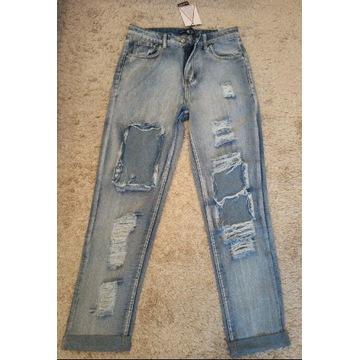 Nowe damskie spodnie jeansowe rozm 40-L
