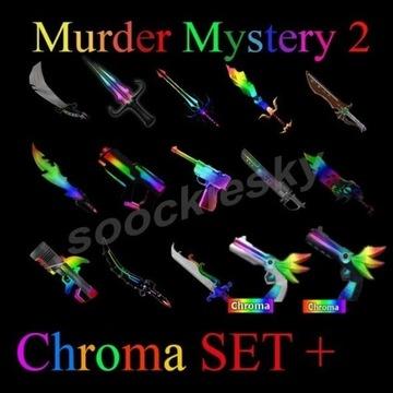 ROBLOX Murder Mystery 2 Chroma SET+