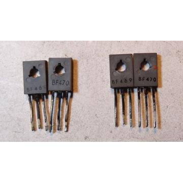 Tranzystory BF469/470 2 pary komplementarne.