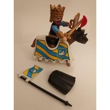 Playmobil rycerz, król, koń zestaw