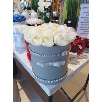 Flower Box kwiaty sztuczne z kryształkami