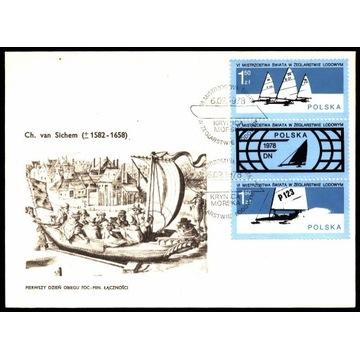 FDC 1978 Fi 2394-pw-2395 MŚ w żeglarstwie lodowym