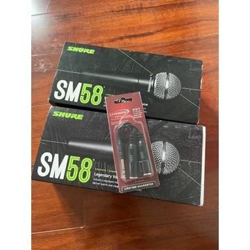 Dwa nowe mikrofony shure sm58 dynamiczne