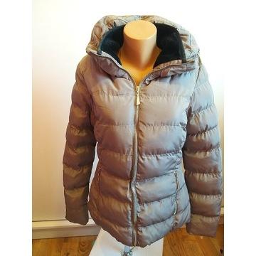 Beżowa zimowa kurtka L