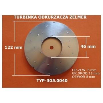 Turbinka turbina Zelmer odkurzacza typ 305.0040