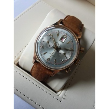 Złocony Chronograf REFLEX_Landeron_vintage50' BDB