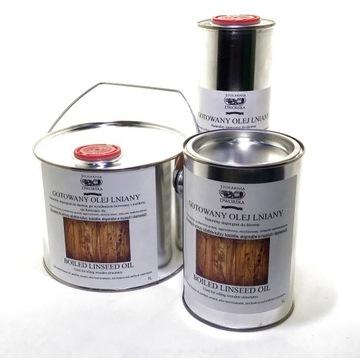 Gotowany olej lniany, impregnat drewna