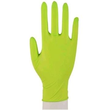 Rękawice nitrylowe bezpudrowe zielone S 100 szt.